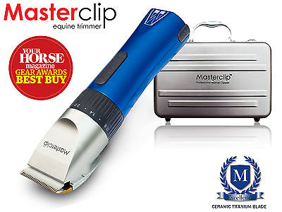 Used  Masterclip Showmate Cordless Horse Trimmer Clipper in Blue SAVING OF £10