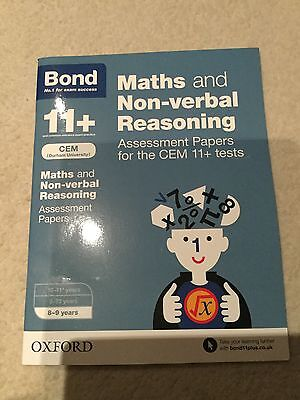 Bond 11+ Maths And Non-Verbal Reasoning Assessment Papers For Cem 11+ Tests-New