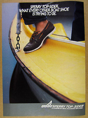 1984 Sperry Top-Sider BOAT SHOE color photo vintage print Ad