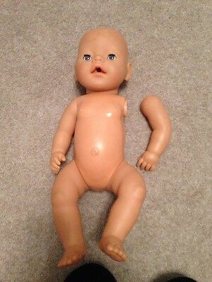 ZAPF BABY BORN Doll **Needs Repair to Arm**