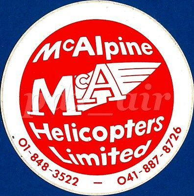 McALPINE HELICOPTER LIMITED AGENT EUROCOPTER UK STICKER