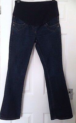 Womens Over Bump Maternity Jeans Size 10R, Kick Flare? GOOD CONDITION