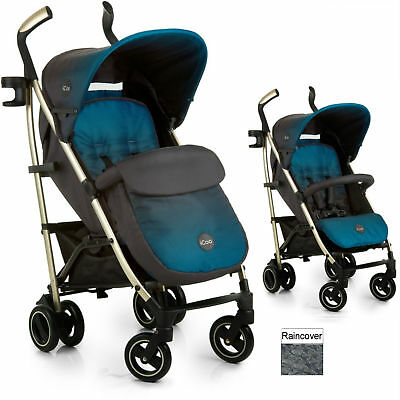 New Icoo Indigo Pace Pushchair Stroller Baby Buggy With Bootcover & Raincover