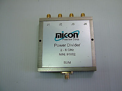 2 - 6GHz RF Divider Combiner Micon 91002 SMA 4 way 2.4GHz 5.8GHz APPS