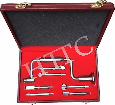 Hudson Brace Drill Set with Beautiful Box Instrument  Orthopedic Surgical