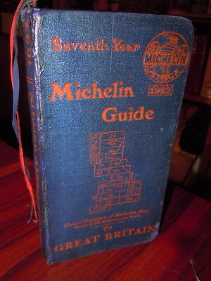TRES Beau guide MICHELIN Great Britain 1923.
