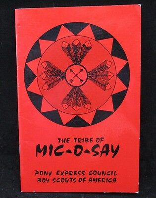Boy Scout-Mic-O-Say Handbook-1974 Pony Express Council Red Book-20 pages