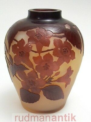 GALLE NANCY JUGENDSTIL VASE KIRSCHBLÜTEN original um 1900