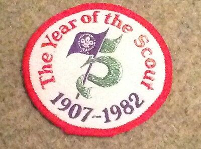 Scout Badge the Year of the Scout 1907-1982
