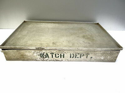 Vintage Industrial Factory Watch Department Tool Machinists Part Storage Case