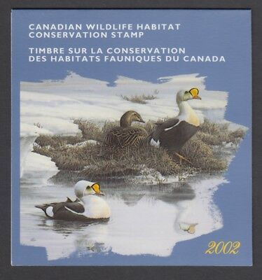 FEDERAL WILDLIFE 2002 MNH SIGNED FWH18d EIDER DUCKS BY PIERRE LEDUC
