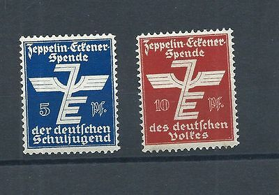 Germany Ww.2 -  Poster Stamps - Airship -  Zeppelin Eckener Spende Scarce Set!