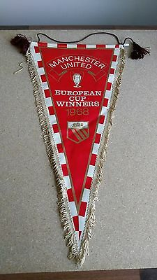 Manchester United European Cup Winners 1968 Large Vintage Football Pennant