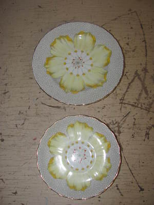 2 Antique Tuscan Fine English Bone China Plates