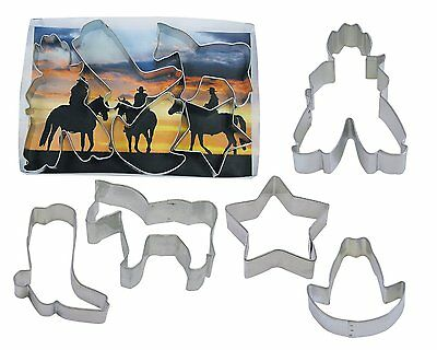 Cowboy Set Cookie Cutters (5 pc.) Cowboy Horse Boot Hat Star Western Party