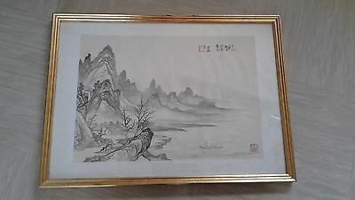 antique Chinese painting on silk artist Yunhong?