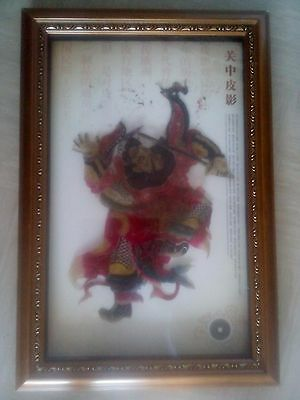 large vintage Chinese shadow box shadow puppet art agate?