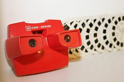 VINTAGE 3D VIEW MASTER MADE IN ENGLAND 1980's MASK CASPER THOMAS 8 REELS 56 PICS