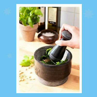 Ikea Large Granite Pestle and Mortar – Herb, Spice & Ice Grinder / Crusher
