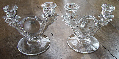 Pair of Vintage Crystal Candelabrum unknown maker