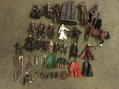Lord Of The Rings large Job Lot Bundle Action Figures & weapons & more