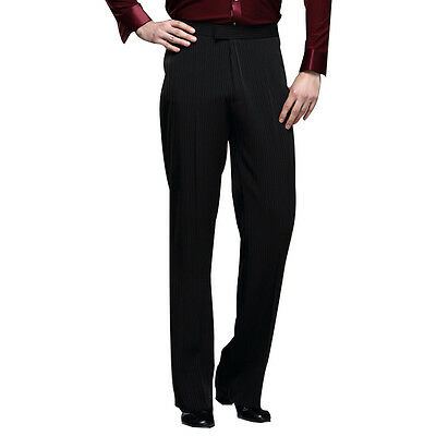 Mens Dance Pants Latin Ballroom Practice Trousers Rhythm Salsa Formal Dancewear