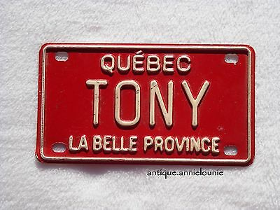 QUEBEC Wheaties Cereal License Plate La Belle Province # TONY