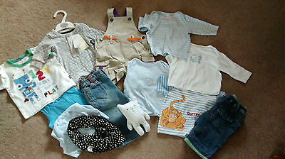 Bundle Of Boys Clothes - 0-3 Months - New And Used - Disney And M&s