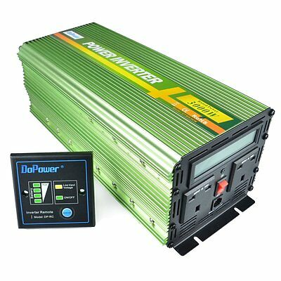 Generic Power Inverter 3000W DC 12V to 230V AC Converter with LCD Display and -