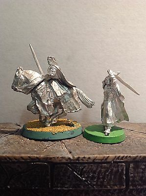 Lord Of The Rings Aragorn The King Mounted & Foot 2 Metal Figures