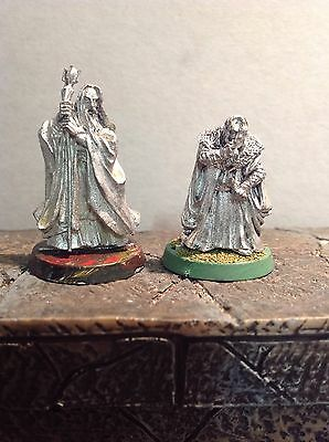 Lord Of The Rings Saruman And Grima Wormtongue 2 Metal Figures Warhammer