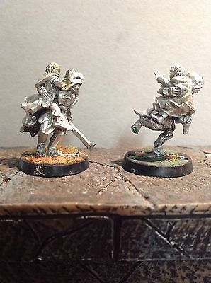 Lord Of The Rings Merry & Pippin Captured By Uruk Hai 2 Metal Figures Warhammer