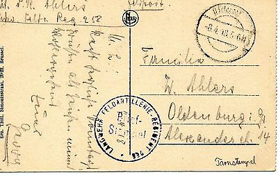 Ww1 Original German Feldpostkarte