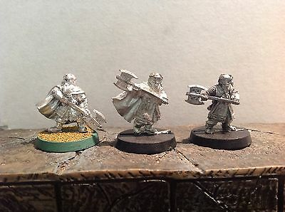 Lord Of The Rings Gimli Different Poses 3 Metal Figures Warhammer