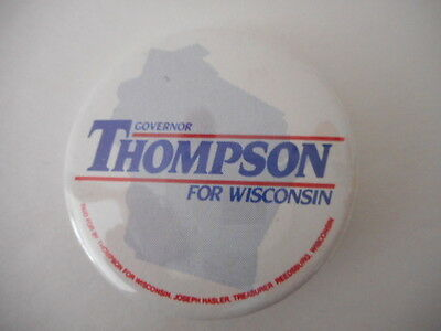 Govenor Thompson For Wisconsin Campaign Pin