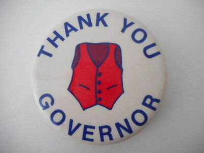"""thank You Govenor"" Campaign Pin Wisconsin"