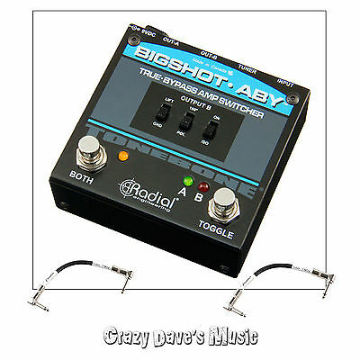 Radial BigShot ABY Passive Amp Switcher Selector Pedal True Bypass w Cables