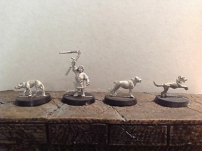 Lord Of The Rings Farmer Maggot And Hounds 4 Metal Figures