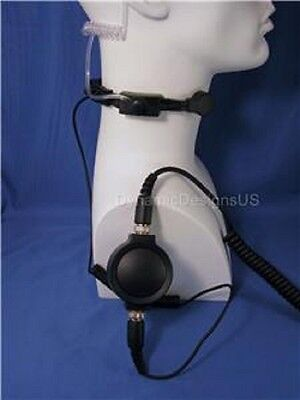 FOR BAOFENG UV-82C Fb-F8Hp Btech Uv-5X3 Gmrs-V1 Amcrest Throat Microphone