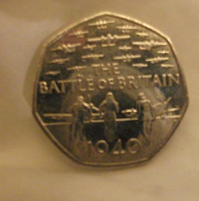 75th ANNIVERSARY OF THE BATTLE OF BRITAIN 50p COIN 2015