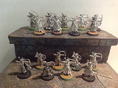 Lord Of The Rings Haldirs Elves With Bow 17 Metal Figures Warhammer