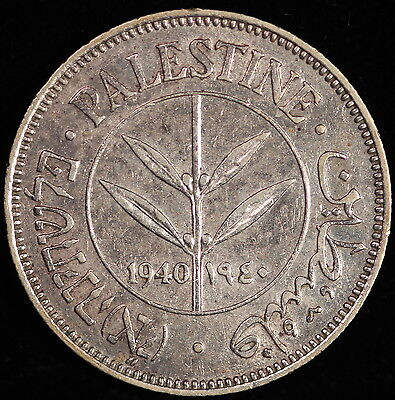Palestine. 50 Mils, 1940. KM# 6. Almost Uncircualted
