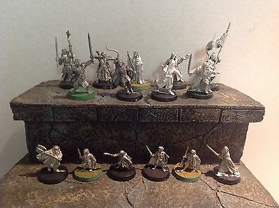 Lord Of The Rings Heroes Of The West 15 Metal Figures Warhammer