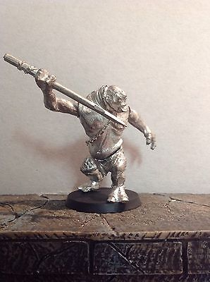 Lord Of The Rings Cave Troll With Spear Metal Figure Warhammer
