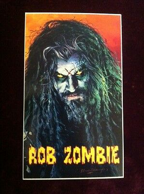 "ROB ZOMBIE Hellbilly Deluxe 3½""x6"" PROMO STICKER ©1998"