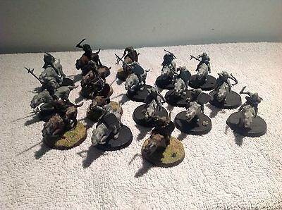 Lord Of The Rings Goblin Warg Riders 17 Mounted Plastic Figures Warhammer