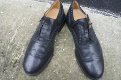Mens M&S Black Brogues -Size UK9
