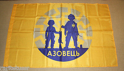 "Flag Child Military-Patriotic Training Camp ""azovets"" 120*80 Cm Battalion Azov"