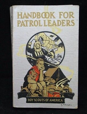 Boy Scout-Handbook for Patrol Leaders Feb 1941 Silver edition 598 pages