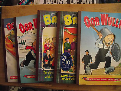 The Broons and oor Wullie softback annuals x 5